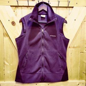 Columbia Women's Fleece Vest, Purple/Eggplant LG